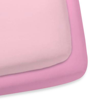 Gerber® 2-Pack Woven Crib Sheet in Pink