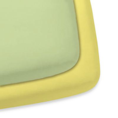Gerber® 2-Pack Woven Crib Sheet in Green/Yellow