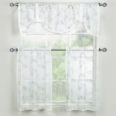 Corsica 24-Inch Window Curtain Tier Pair in Ivory