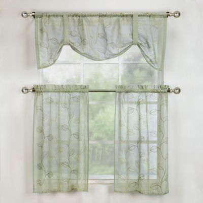 Corsica Window Curtain Tier Pair in Sage