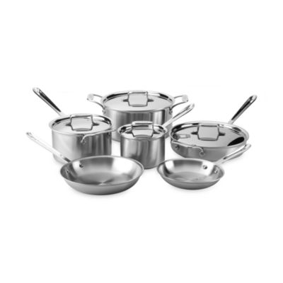 Brushed Stainless Steel Cookware