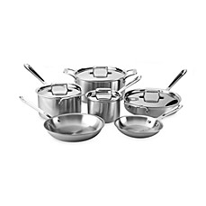 All-Clad d5 Brushed Stainless Steel 10-Piece Cookware Set and Open Stock