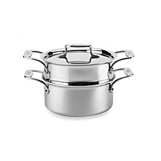 All-Clad d5 Brushed Stainless Steel 3-Quart Covered Casserole and Steamer