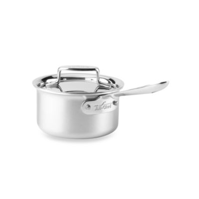 All-Clad d5 Brushed Stainless Steel 1.5-Quart Covered Saucepan
