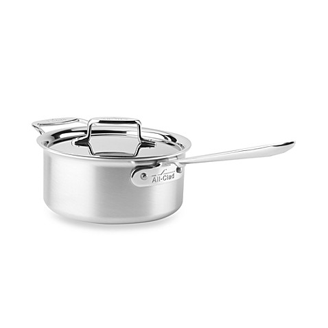 All-Clad d5 Brushed Stainless Steel 3-Quart Covered Saucepan