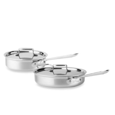All-Clad d5 Brushed Stainless Steel Saute Pans