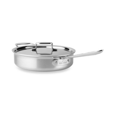 All-Clad d5 Brushed Stainless Steel 4-Quart Covered Saute Pan