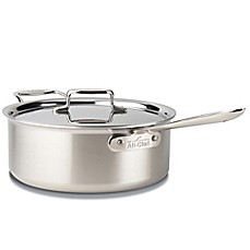 All-Clad d5 Brushed Stainless Steel 6-Quart Deep Covered Sauté Pan