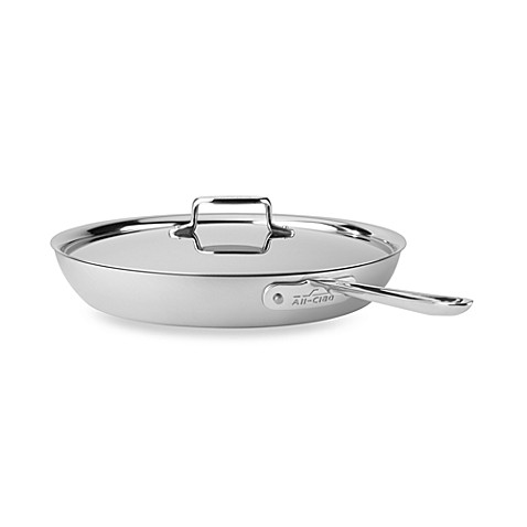 All-Clad d5 Brushed Stainless Steel 13-Inch French Skillet with Lid