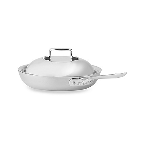 All-Clad® d5 Brushed Stainless Steel Nonstick Covered French Skillets