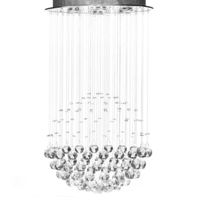 100% Crystal Rain Drop 6-Light Chandelier