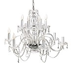 100% Crystal 12-Light Chandelier