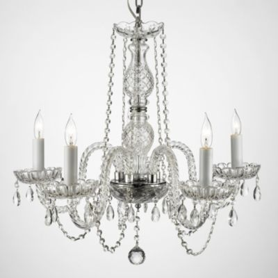 100% Crystal 5-Light Chandelier