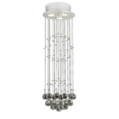100% Crystal Rain Drop 3-Light Chandelier