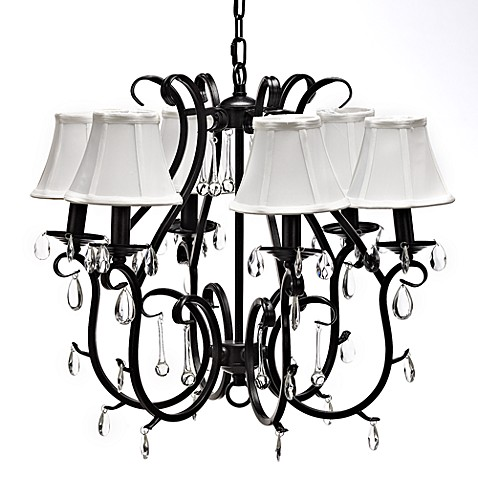 Gallery Crystal and Wrought Iron 6-Light Chandelier