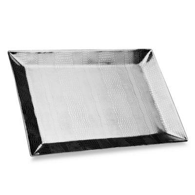 Godinger Croco 19 1/2-Inch x 14-Inch Tray