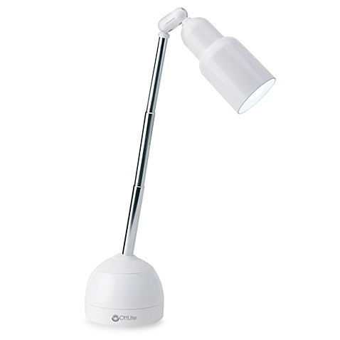 OttLite® Telescoping Desk Lamp in White