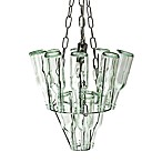Leitmotiv Mini Glass Bottle Chandelier Chrome