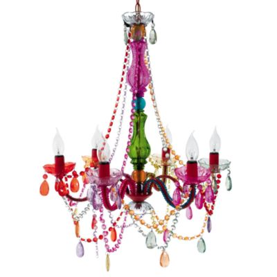 Silly Gypsy Large 6-Light Chandelier Lamp in Multi-Color