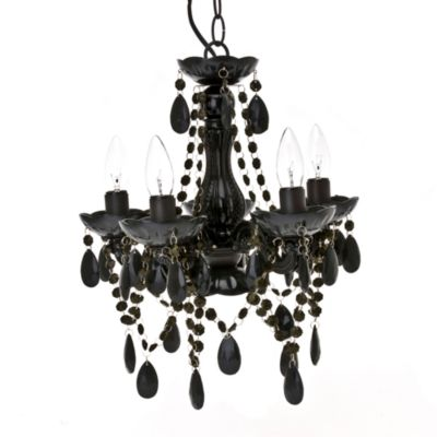 Silly Gypsy Small 5-Light Chandelier Lamp in Black