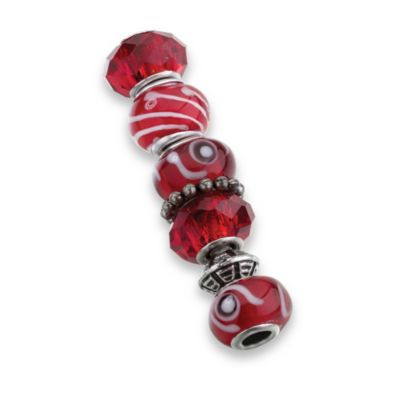 Lillian Rose™ Set of 7 Assorted Beads in Red