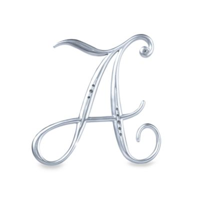 "Lillian Rose™ Silver Letter ""A"" Monogram with Rhinestones"