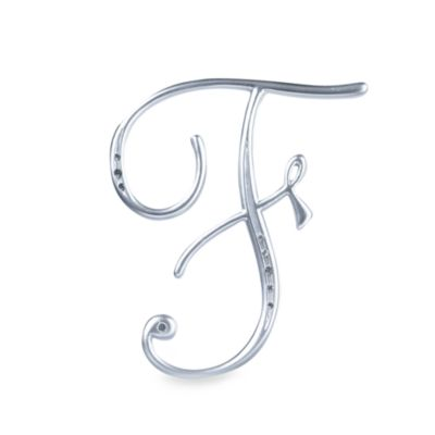 "Lillian Rose™ Silver Letter ""F"" Monogram with Rhinestones"