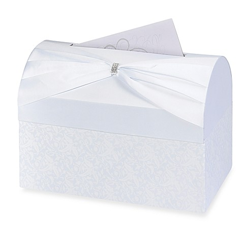Lillian Rose™ Card Box in White
