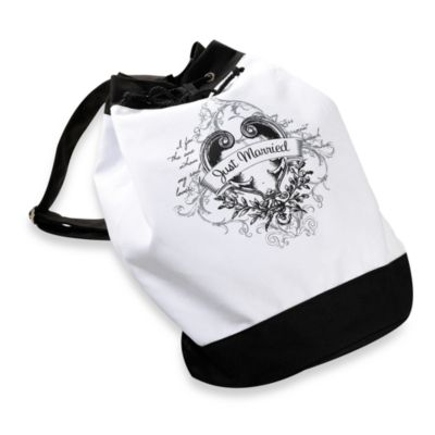 Just Married Beach Bag in White