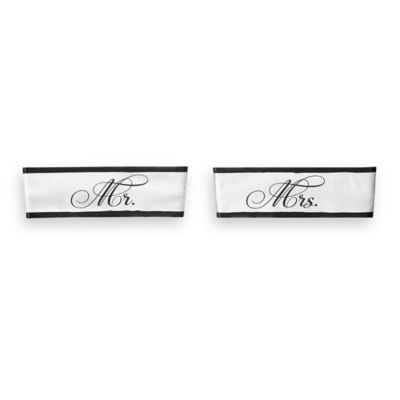 """Mr."" and ""Mrs."" Wedding Chair Sashes"