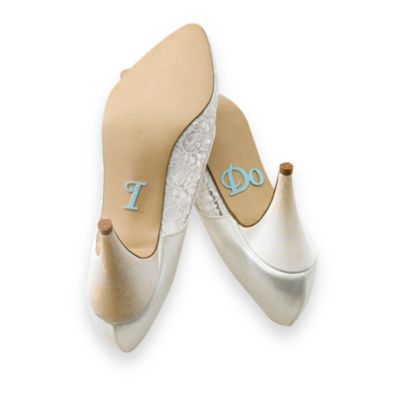 "Lillian Rose™ ""I DO"" Wedding Shoe Stickers"
