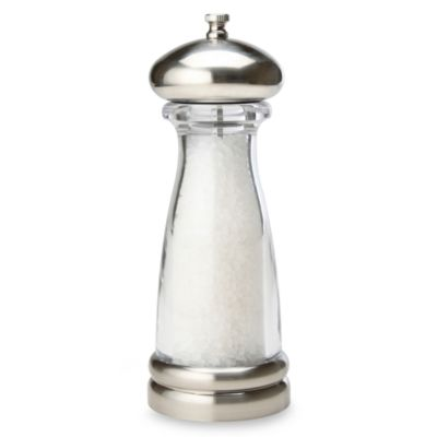 Olde Thompson 8-Inch Brushed and Clear Salt Grinder in Saturn