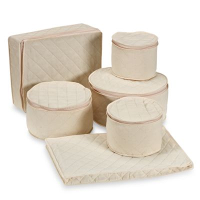 6-Piece Canvas China Storage Set