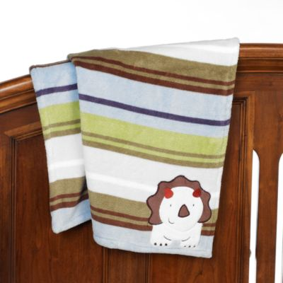 CoCaLo® Chomp and Stomp Appliquéd Sherpa Blanket