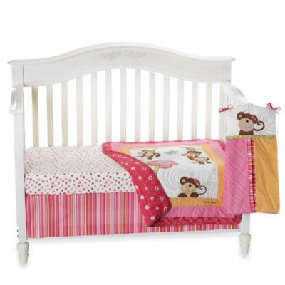 CoCalo™ Melanie The Monkey 4-Piece Crib Bedding Set