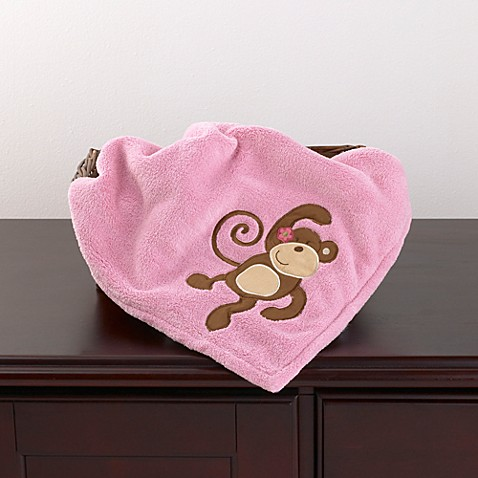 CoCaLo® Melanie the Monkey Appliquéd Sherpa Blanket