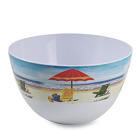 Beach Scene Melamine 11-Inch Serving Bowl