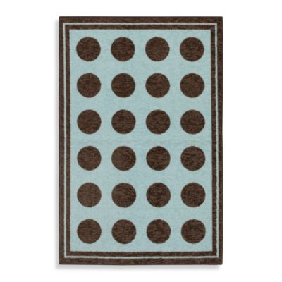 Mohawk Home Fluffy Baby Rug in Blue