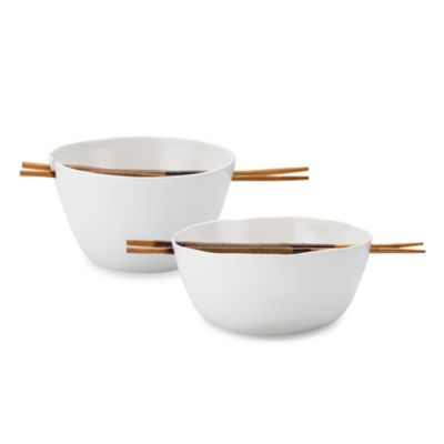 Donna Karan Lenox® Porcelain Touch™ Noodle Bowl with Chopsticks 3-piece Set