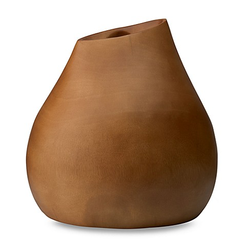 Donna Karan Lenox® Hand-Carved Wood Smooth Tall Vase