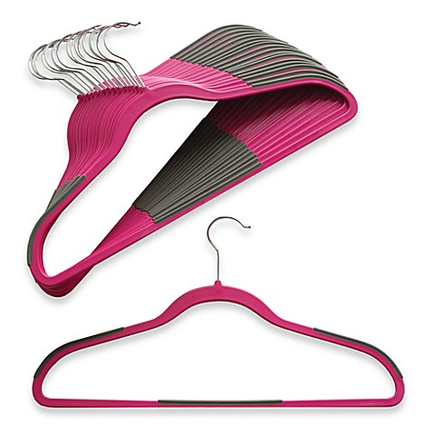 Slim Grips™ 18-Count Hangers in Pink