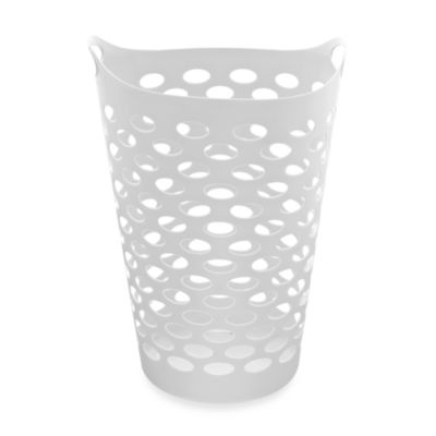 Starplast Tall Flex Laundry Basket in White