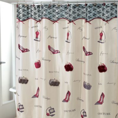 Purse Shoes Shower Curtain