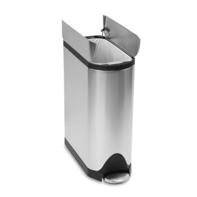 simplehuman® 45-Liter Butterfly Brushed Stainless Steel Step Trash Can