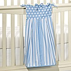 Tadpoles&#153 Blue Polka Dots and Stripes 100% Cotton Diaper Stacker