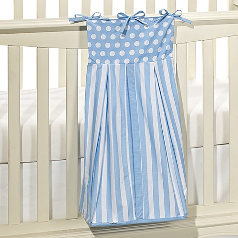 Tadpoles™ Blue Polka Dots and Stripes 100% Cotton Diaper Stacker