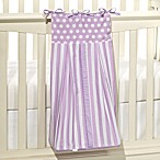 Tadpoles Lilac Polka Dots and Stripes Diaper Stacker, 100% Cotton