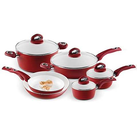 Bialetti® Aeternum Red 10-Piece Cookware Set and Open Stock