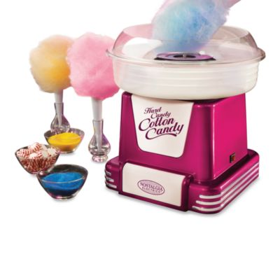 Nostalgia Electrics™ Retro Series Hard & Sugar-Free Cotton Candy Maker in Raspberry