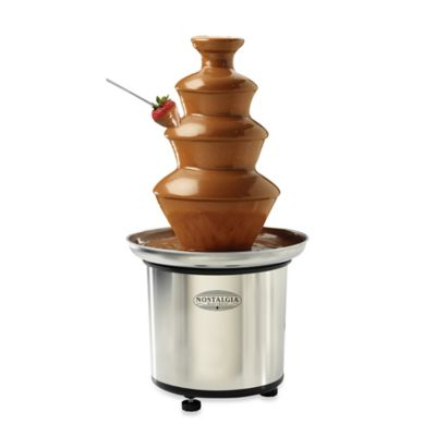 Nostalgia Electrics™ 3-Tier Stainless Chocolate Fondue Fountain
